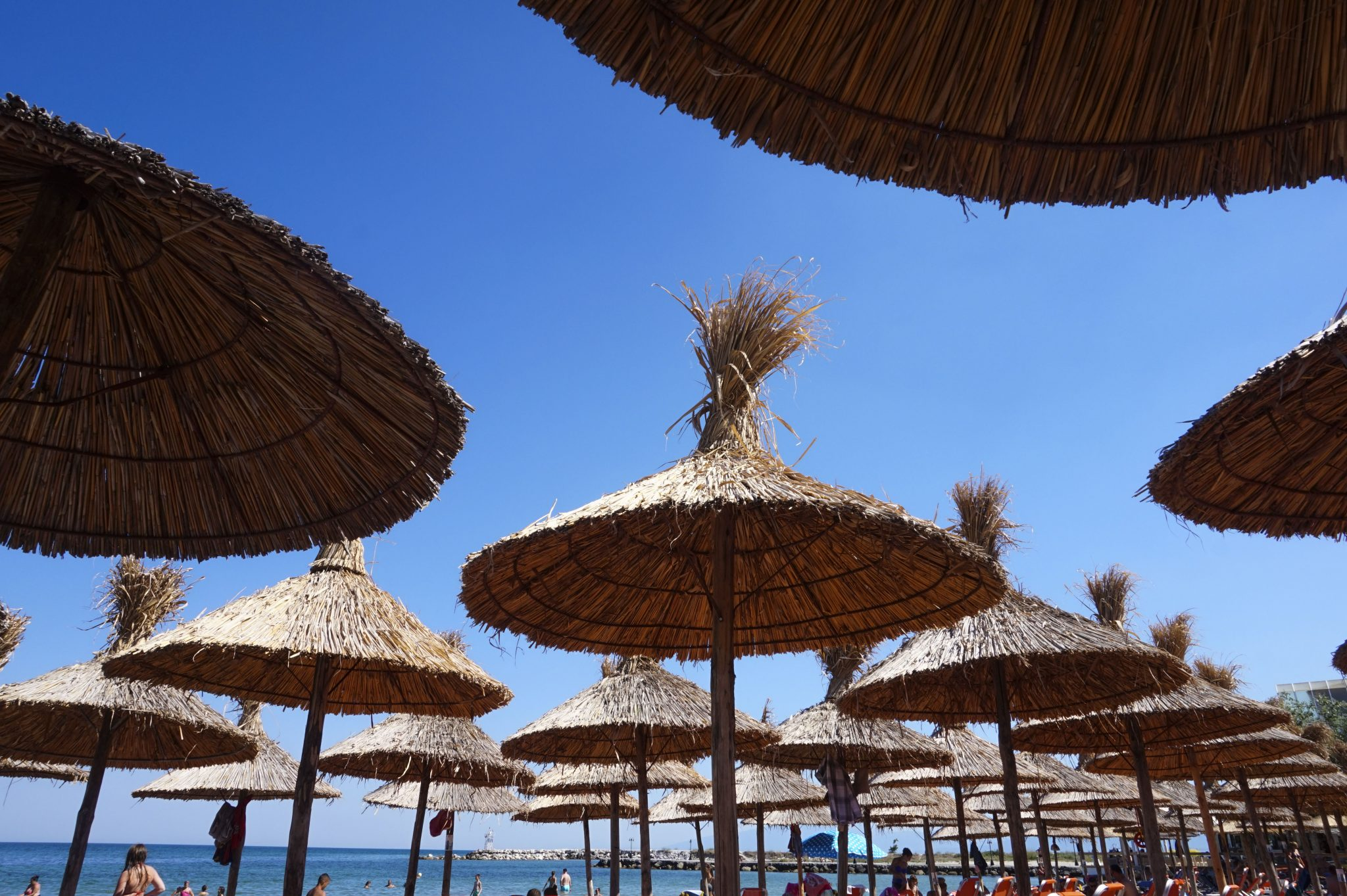 beach day in paralia katerini greece