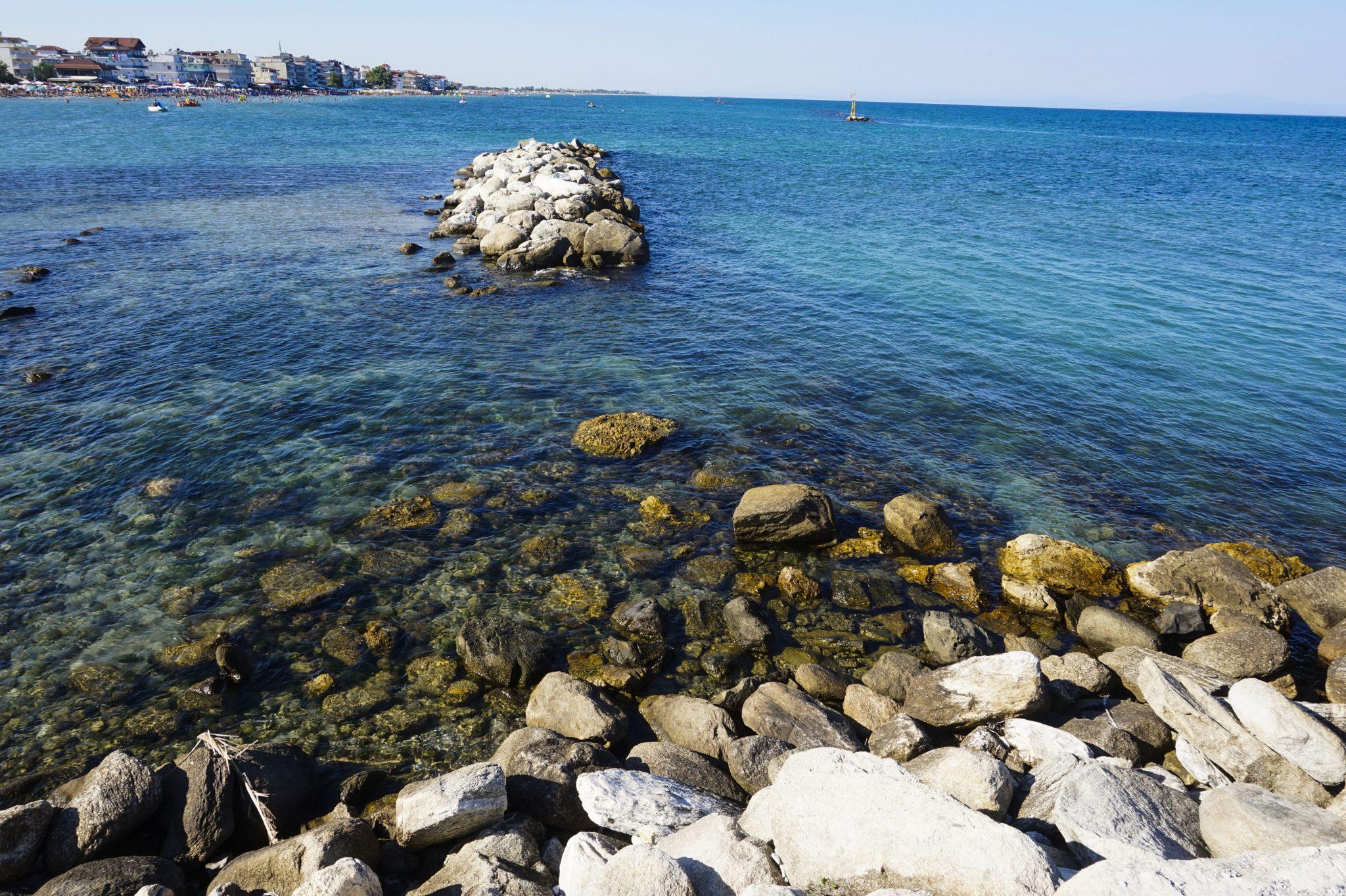 ocean in paralia katerini, greece.