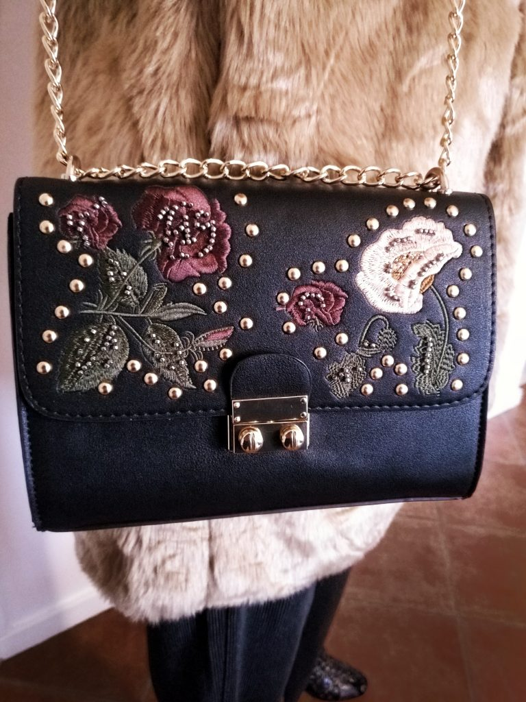 asos black embellished bag