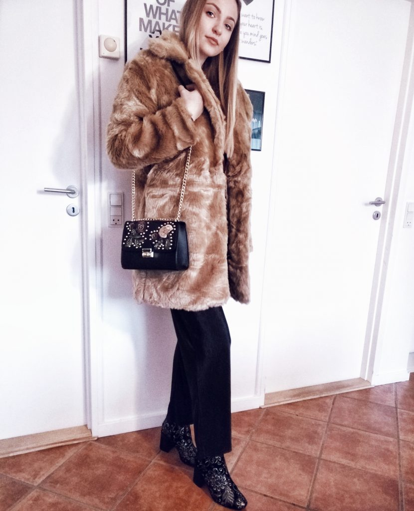 faux fur missguided coat winter beige coat