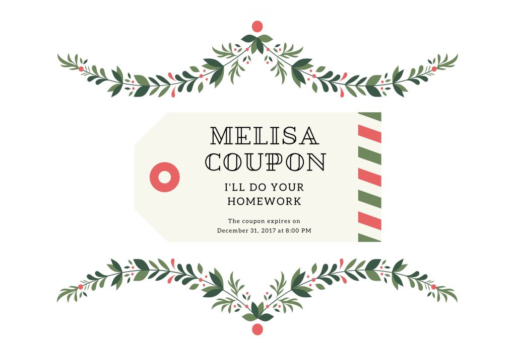 diy coupon christmas free gift
