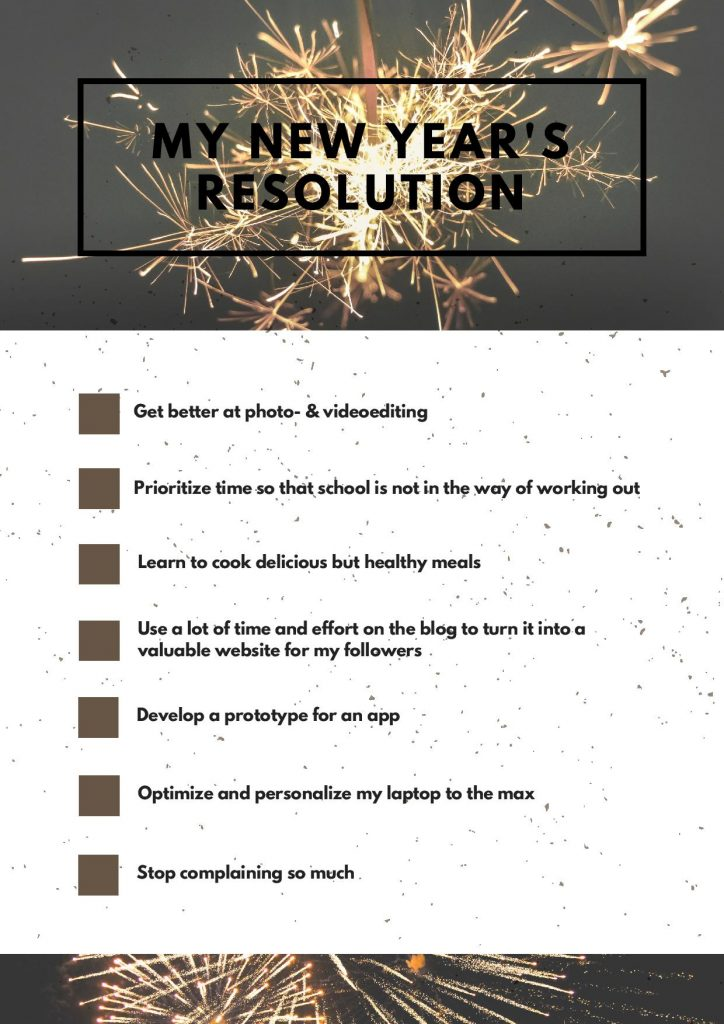 new years resolution student