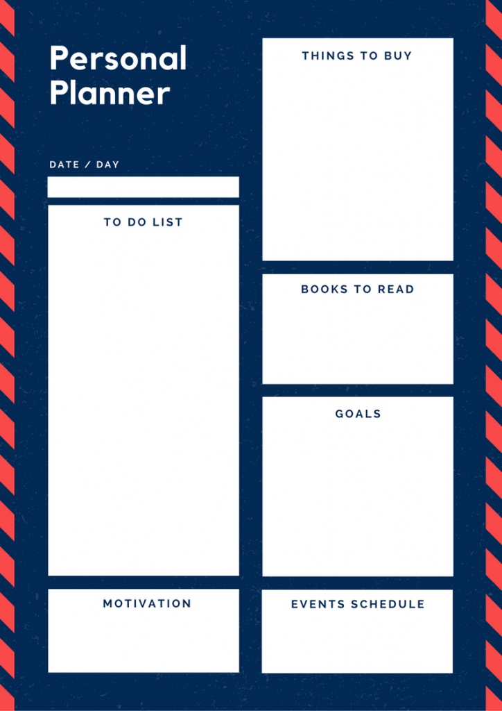 daily planner to-do list calendar daily calendar planning productivity