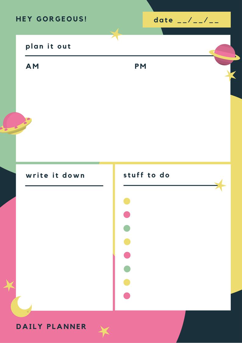 daily planner to-do list calendar daily calendar planning productivity