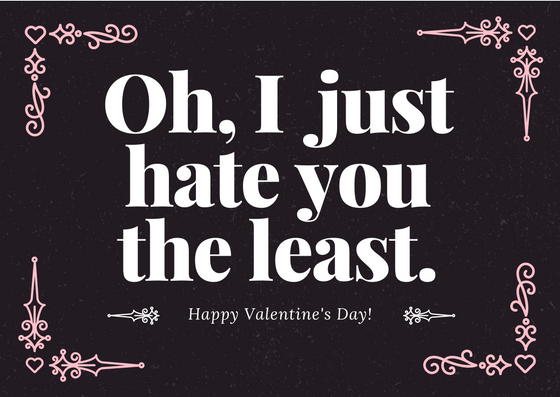funny valentines day card for the bitter one