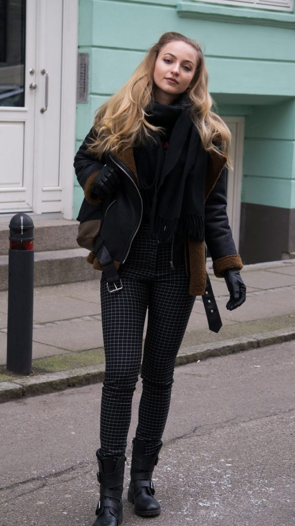 streetstyle school zara jacket h&m hm pants winter