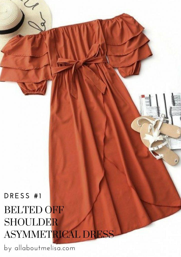 spring shopping zaful asymmetrical dress