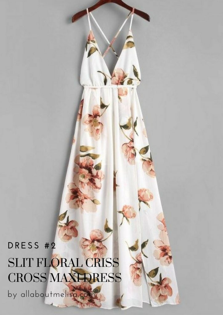 spring shopping zaful floral dress