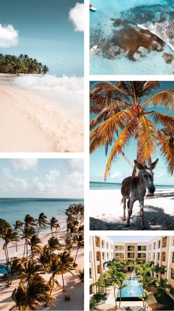 punta cana dominican republic moodboard bavaro beach travel inspo