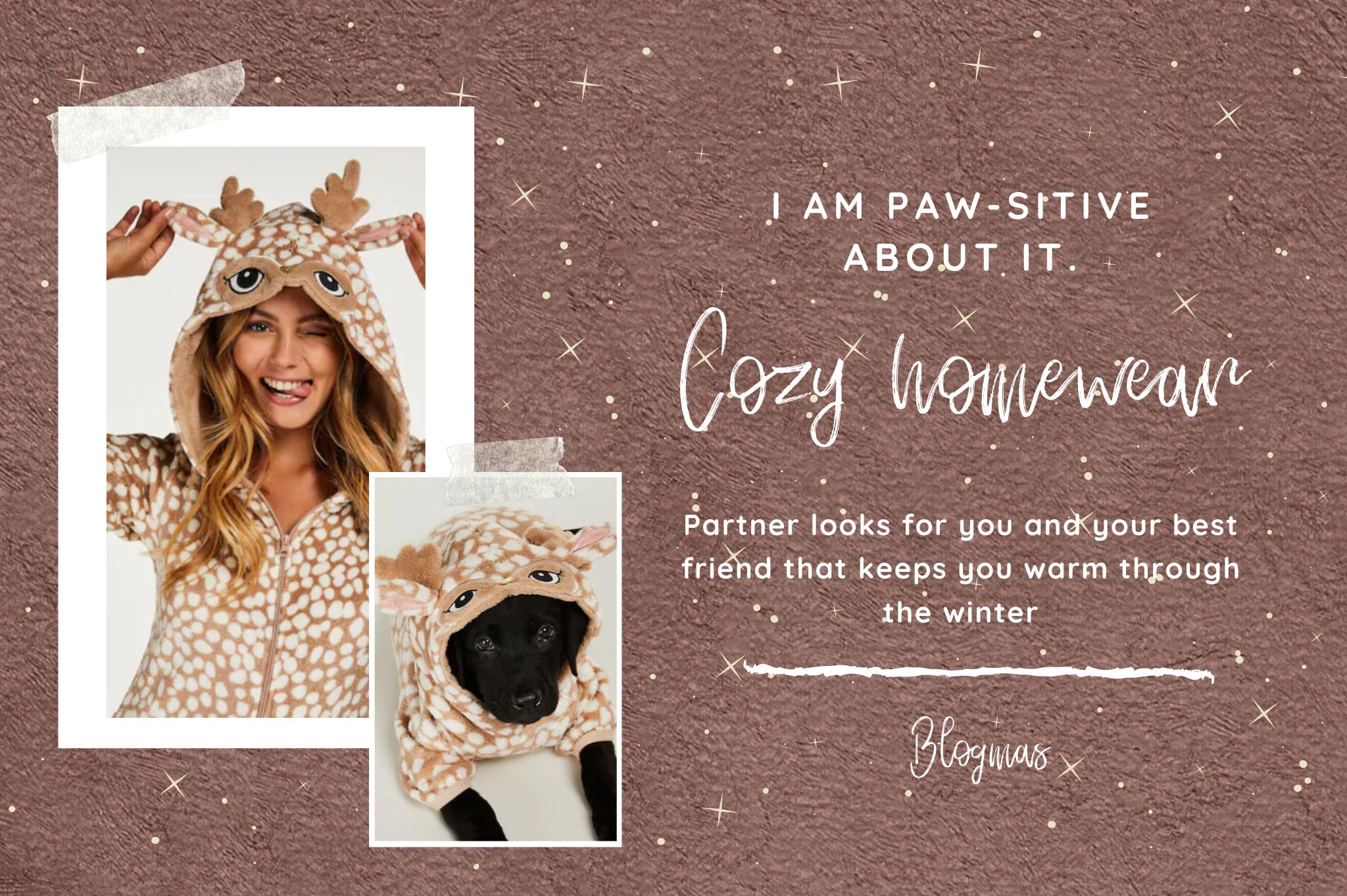 cozy homewear partnerlooks onesie dog pet wear