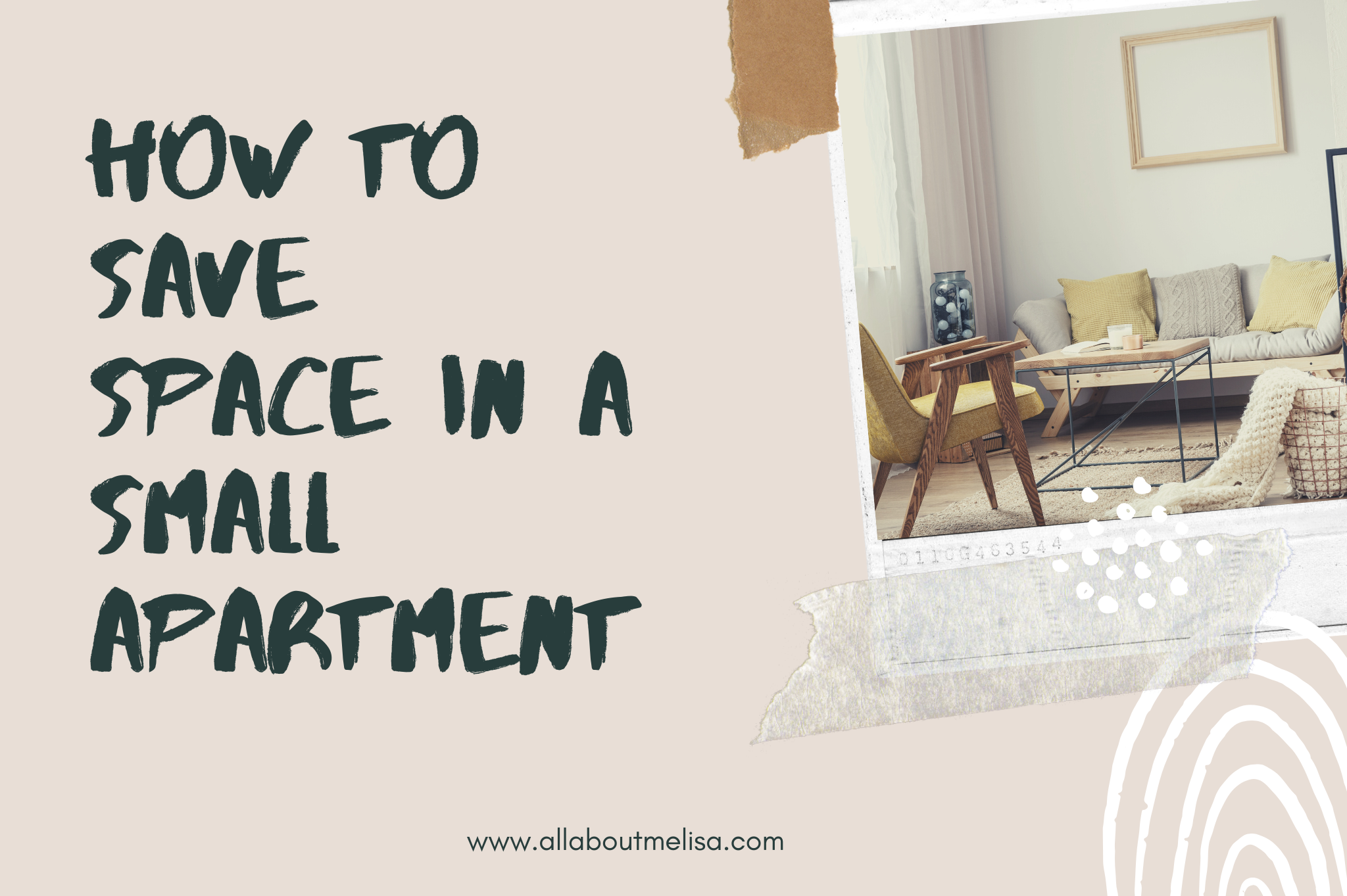how to save space in a small apartment