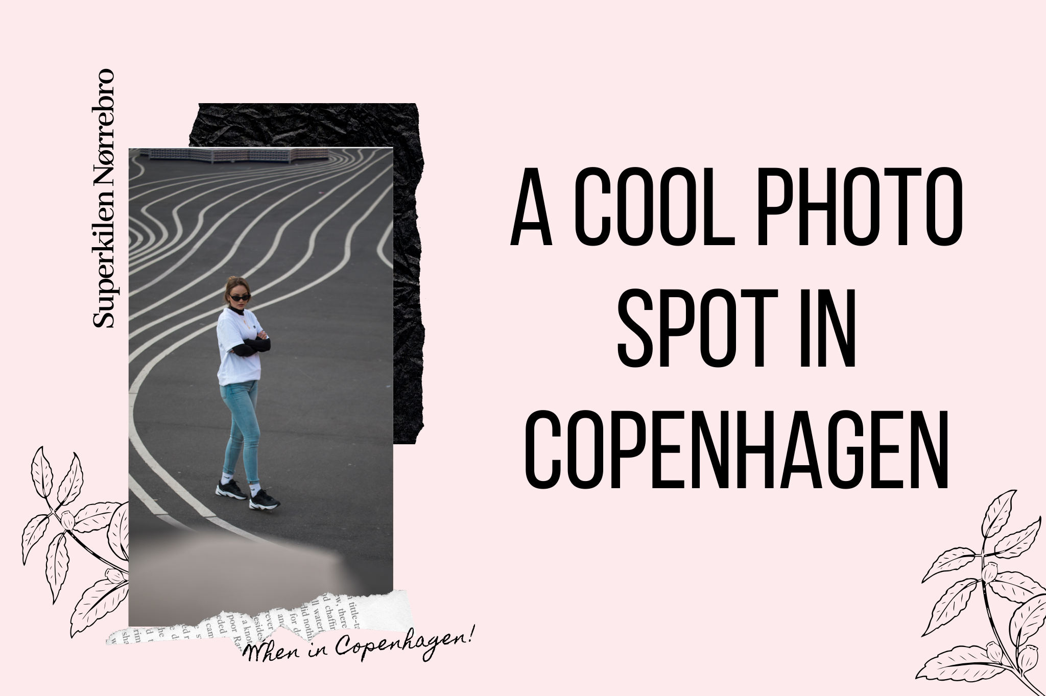 Superkilen Copenhagen place with stripes cool photo spot in Copenhagen