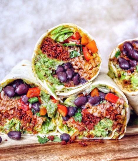 rainbow burrito vegan plantbased burrito