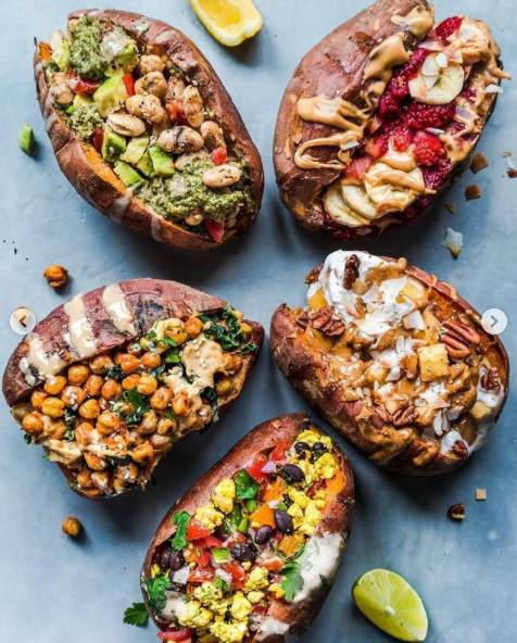 stuffed sweet potatoe vegan plantbased recipe